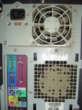 Back of Dusty Computer