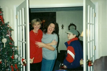 My Mom, Aunt Brenda, and me