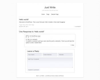 Just Write WordPress Theme